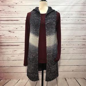 Anthropologie Entro Long Cardigan Sweater Vest